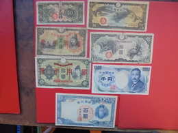 "LOT 7 BILLETS ""JAPAN"" NEUFS Ou CIRCULER - Coins & Banknotes"