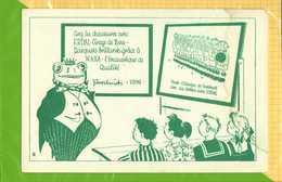 BUVARD & Blotting Paper :  Cirez Les Chaussures Avec EDAL Et WAXA  Caricature Grenouille - Chaussures