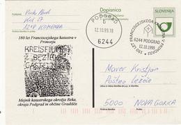 SLOVENIJA SLOVENIA DOPISNICA DOTISK  1999 PODGRAD 180 LET FRANCISCEJSKI KATASTER  V PRIMORJU  POSTAL STATIONERY - Slovenia