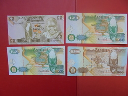 "LOT 4 BILLETS ""ZAMBIA"" NEUFS Ou CIRCULER - Coins & Banknotes"