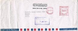 Irak Absenderfreistempel Bagdad In Die DDR 1977 - Meterstamp, Selten - Irak