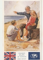 """W. Townshend. Childrens O The League Of Nations. Great Britain"""" Tuck Oilette PC # 3643 - Tuck, Raphael"""