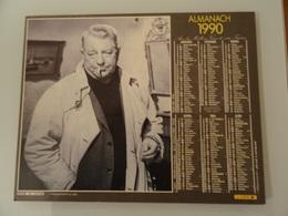 Almanach Ptt De 1990 Recto  Jean Gabin  Verso Romy Shneider Et Philippe Noiret - Calendriers