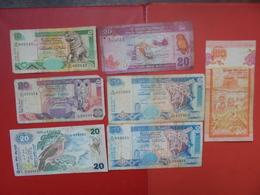 "LOT 7 BILLETS ""SRI LANKA"" NEUFS Ou CIRCULER - Coins & Banknotes"