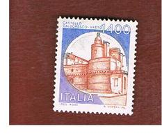 ITALIA -  UN.1653  -  1983  SERIE ORDINARIA  CASTELLI D' ITALIA:  CALDORESCO, VASTO 1400 LIRE - NUOVI ** (MINT) - 1981-90: Mint/hinged