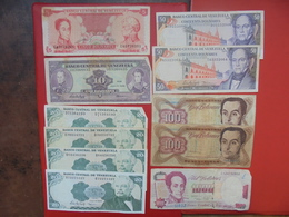 """LOT 11 BILLETS """"VENEZUELA"""" NEUFS Ou CIRCULER - Monnaies & Billets"""