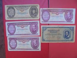 "LOT 5 BILLETS ""HONGRIE"" NEUFS Ou CIRCULER - Coins & Banknotes"