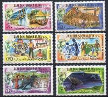 Somalia 1979 MiNr. 282/287 **/ Mnh  ; 10. Jahrestag Der Revolution - Somalia (1960-...)