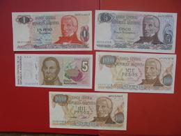 "LOT 5 BILLETS ""ARGENTINE"" NEUFS Ou CIRCULER - Coins & Banknotes"
