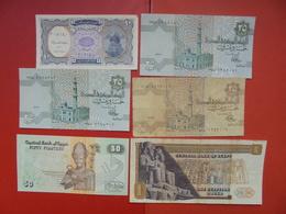 "LOT 6 BILLETS ""EGYPTE"" NEUFS Ou CIRCULER - Coins & Banknotes"