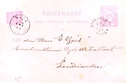 BK 13V  Met Kleinrond STEENWIJK Naar Leeuwarden - Postal Stationery