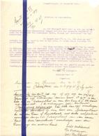 Brief Lettre - Florimond Van Hoyweghen  Steendorp - Naar Kadaster 1932 + Brief Met Antwoord - Vecchi Documenti