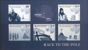 Ross Dependency 2011 Race To The Pole Flags Ships Minisheet MNH NEW - Antarctic Expeditions