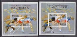 Poland 29.07.1992 Mi # Bl 118 AВ Barcelona Summer Olympics, OLYMPHILEX'92, MNH OG - Verano 1992: Barcelona