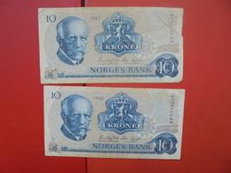 """LOT 2 BILLETS """"NORVEGE"""" NEUFS Ou CIRCULER - Coins & Banknotes"""