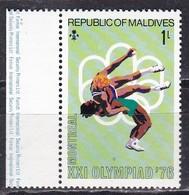 Maldive, 1976 - 1l Wrestling - Nr.643 MNH** - Maldive (1965-...)