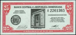 DOMINICAN REPUBLIC - 25 Centavos Nd.(1962) UNC P.87 - Dominicana