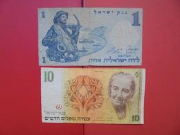 "LOT 2 BILLETS ""ISRAEL"" NEUFS Ou CIRCULER - Coins & Banknotes"