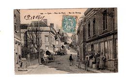 CPA 27 - Lyre - Rue Du Pavé - Bas Du Bourg , Café - France