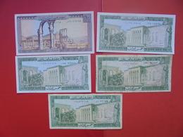 "LOT 5 BILLETS ""LIBAN"" NEUFS Ou CIRCULER - Coins & Banknotes"