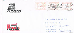 Belgien - Brief Nach Japan Mit Automatenmarken Belgica 82 - Postage Labels
