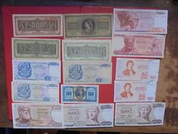 "LOT 15 BILLETS ""GRECE"" NEUFS Ou CIRCULER - Coins & Banknotes"