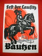 """Color-Karte """"Fest Der Lausitz In Bautzen 1935"""" , Mit SSt. """"Görlitz 1941"""" - Deutschland"""