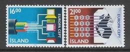 PAIRE NEUVE D'ISLANDE - EUROPA 1988 : TRANSPORT ET COMMUNICATION N° Y&T 635/636 - 1988
