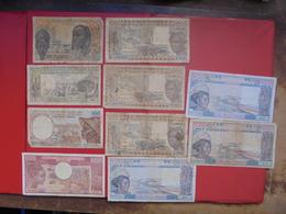"""LOT 10 BILLETS """"AFRIQUE-OUEST"""" NEUFS Ou CIRCULER - Coins & Banknotes"""