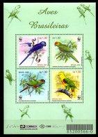 BRESIL. N°2685-8 De 2001. WWF Perroquets. - Parrots