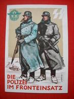 """Color-Karte """"SS - Die Polizei Im Fronteinsatz 1942"""" , Ungebraucht - Deutschland"""