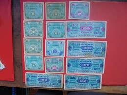 "LOT 14 BILLETS ""FRANCE-1944"" NEUFS Ou CIRCULER - Coins & Banknotes"