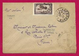 Enveloppe Expédiée Par Avion En 1927 - Maroc - Casablanca - Camp Cazes - 37ème Régiment D'Aviation - Maroc (1891-1956)