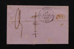 FRANCE - Lettre De Rodez En 1835 , Cursive à Identifier - L 22588 - 1801-1848: Precursors XIX