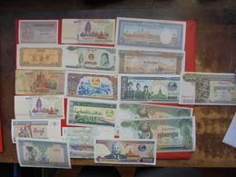 "LOT 19 BILLETS ""CAMBODGE"" NEUFS Ou CIRCULER - Coins & Banknotes"