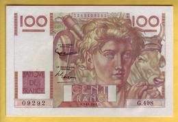BILLET FRANCAIS - 100 Francs Jeune Paysan 2.10.1952 Neuf - 1871-1952 Anciens Francs Circulés Au XXème