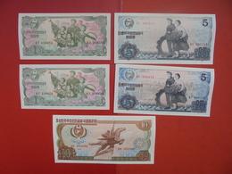 "LOT 5 BILLETS ""NORTH-KOREA"" NEUFS Ou CIRCULER - Coins & Banknotes"