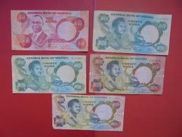 "LOT 5 BILLETS ""NIGERIA"" NEUFS Ou CIRCULER - Coins & Banknotes"
