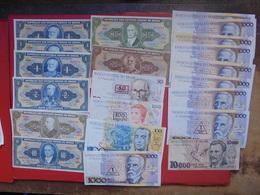 "LOT 21 BILLETS ""BRESIL"" NEUFS Ou CIRCULER - Coins & Banknotes"
