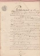 VP 2 FEUILLES - 1853 - MARIAGE ENTRE BRUNAUX ET GROS - BOURG - CUISIAT - Manuscrits