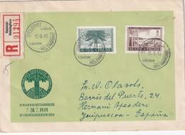 FINLANDE 1949 LETTRE RECOMMANDEE DE HESLINKI AVEC CACHET ARRIVEE - Finlande