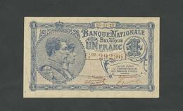 BELGIUM  1 Franc  1920  B4 P92  Uncirculated  Banknotes - [ 2] 1831-... : Belgian Kingdom