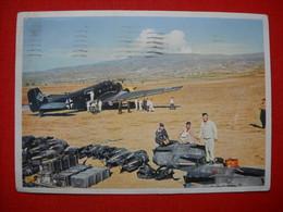 """Color-Karte """"Kampf Im Luftraum"""" Per Feldpost Gelaufen 1944 - Deutschland"""