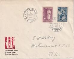 FINLANDE 1948 LETTRE LETTRE DE TURKU  FDC - Finlande