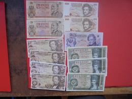 """LOT 12 BILLETS """"AUTRICHE"""" NEUFS Ou CIRCULER - Coins & Banknotes"""