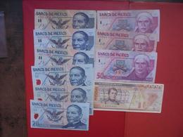 """LOT 10 BILLETS """"MEXIQUE"""" NEUFS Ou CIRCULER - Coins & Banknotes"""