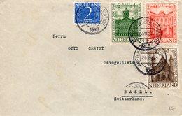 28 VIII 1948  Brief Van Amsterdam Naar  Basel - Brieven En Documenten