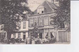 CP 1907 : Sluis : L'Ecluse ; Hôtel Thof Van Brussel , Restaurnt F. Janssens  , Animée , Calèche - Restaurants