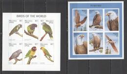 H461 !!! IMPERFORATE MALDIVES FAUNA BIRDS THE BALD EAGLE PARROTS 2KB MNH - Parrots