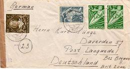 14 III 1949  Geopende En Gecensureerde  Brief Van Haarlem Naar  Langwedel - Brieven En Documenten